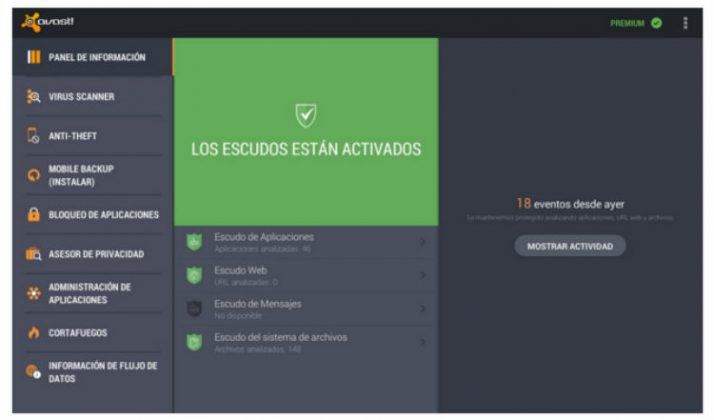 Antivirus para android Avast