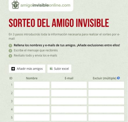 amigo invisible online