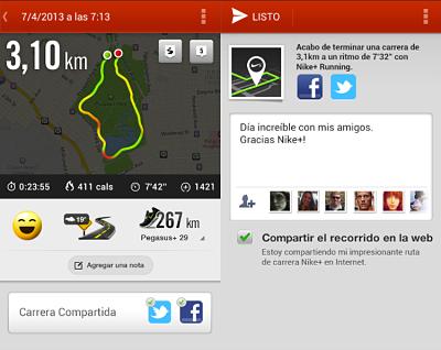 aplicaciones para correr Nike+