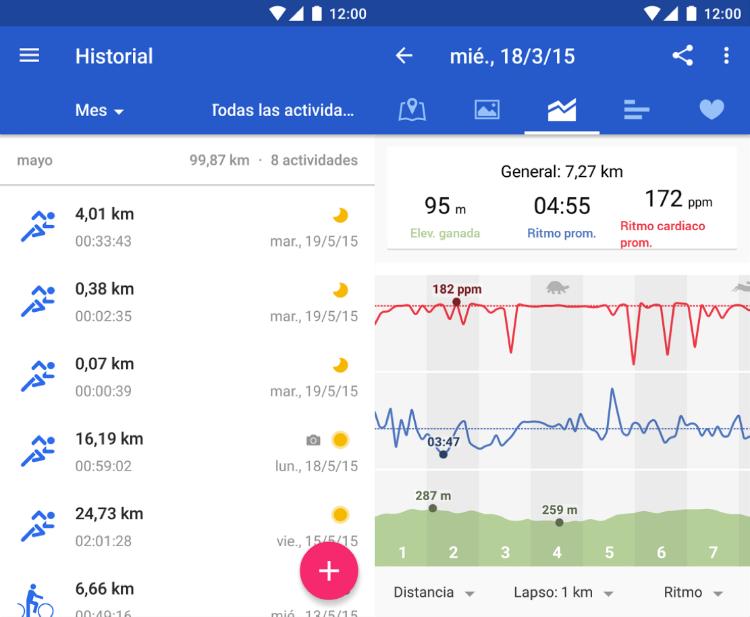aplicaciones para correr Runtastic