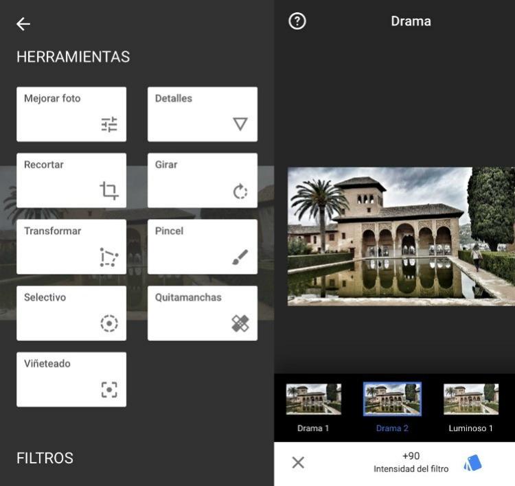Snapseed aplicaciones para editar fotos molonas