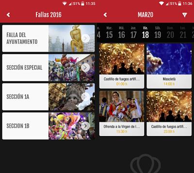 app fallas valencia 2016