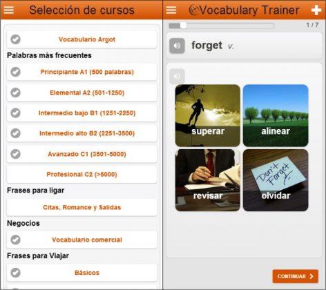 Aplicaciones gratuitas para aprender inglés aprende palabras