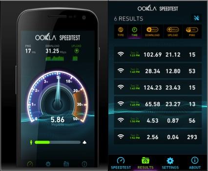 test de velocidad de internet. Mide la velocidad de tu conexión Ookla