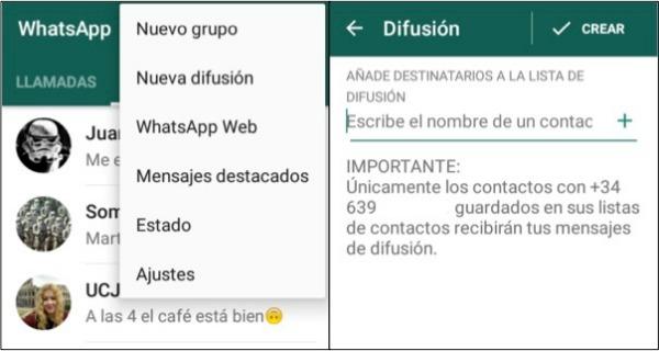 Trucos de WhatsApp que tal vez nop conocías nueva difusión