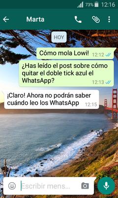 Trucos de WhatsApp que tal vez nop conocías tick azul