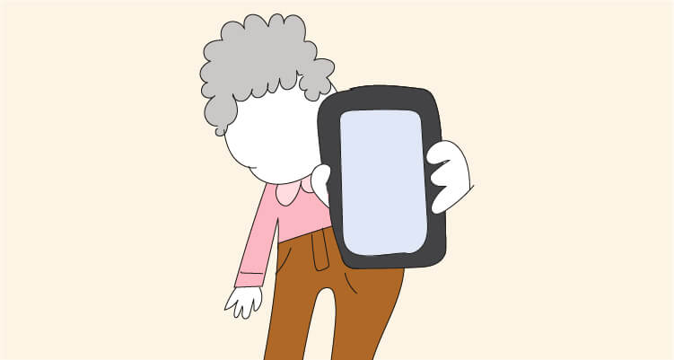 Móviles sencillos para personas mayores
