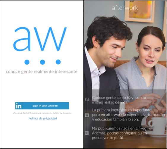 Aplicaciones para conocer gente Afterwork