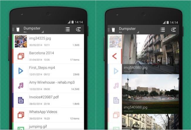 Cómo recuperar las fotos borradas del móvil Dumpter