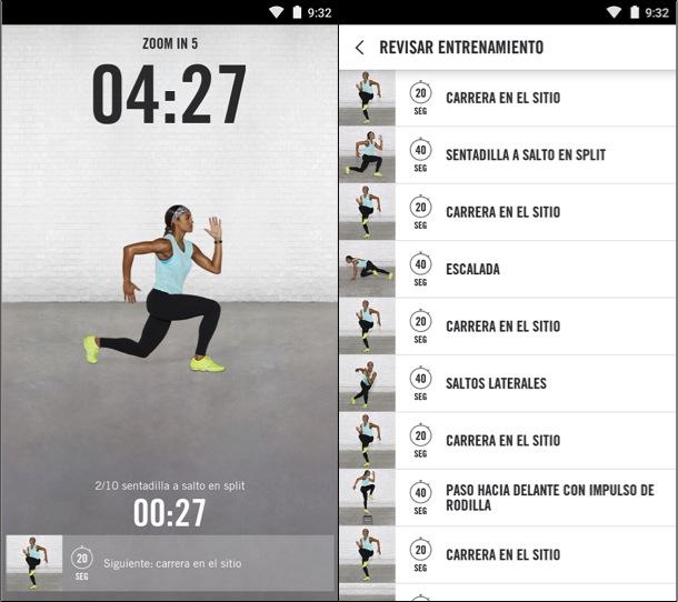 Aplicaciones que te hacen la vida más fácil Nike Training
