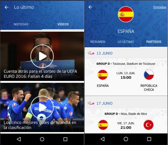 Las mejores apps para seguir la Eurocopa 2016 Official UEFA EURO 2016