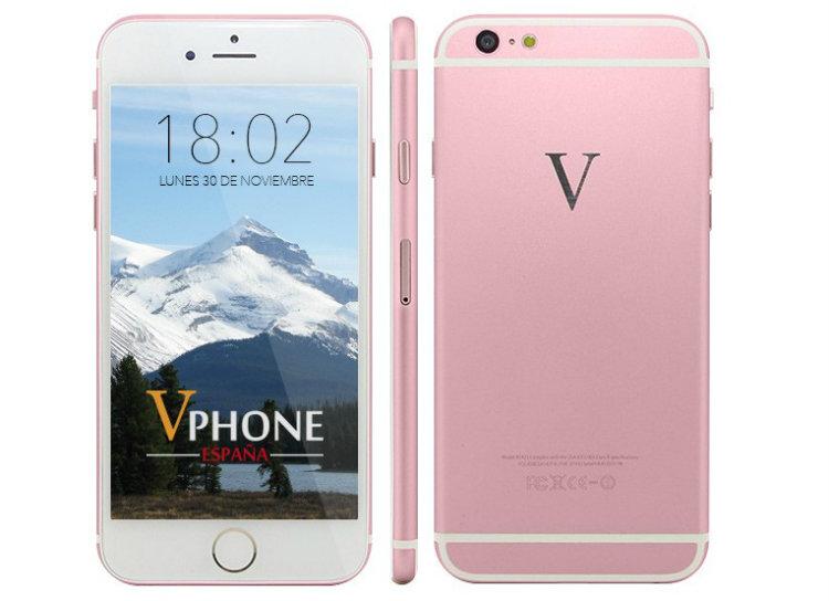 Los sustitutos chinos baratos del iPhone 6 vphone i6 plus