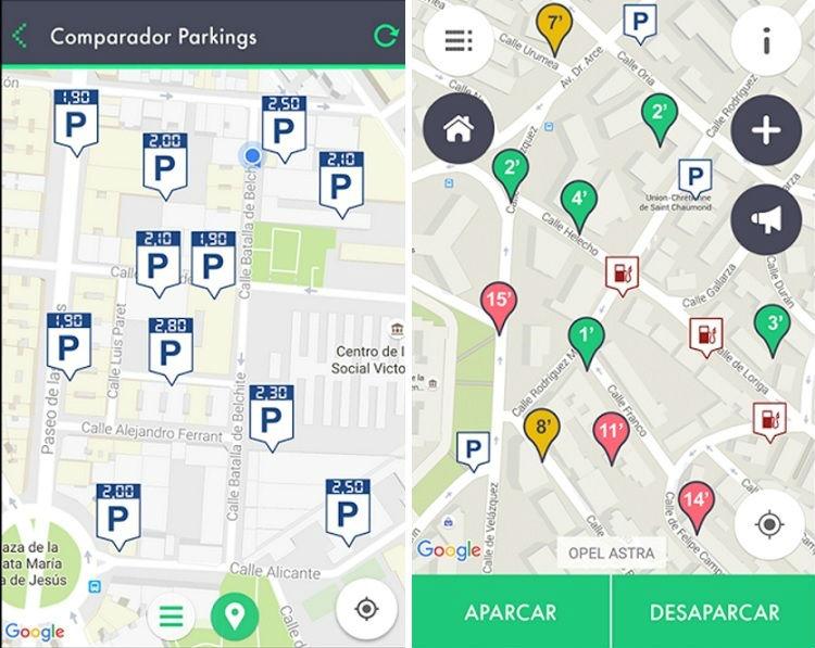 Las mejores aplicaciones para buscar aparcamiento en tu ciudad