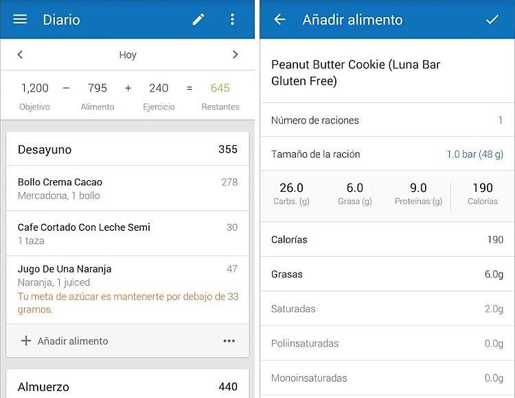 Aplicaciones para contar calorías y tomar el control de las navidades