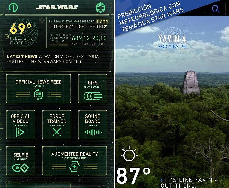 Aplicaciones de Star Wars, para que la fuerza te acompañe