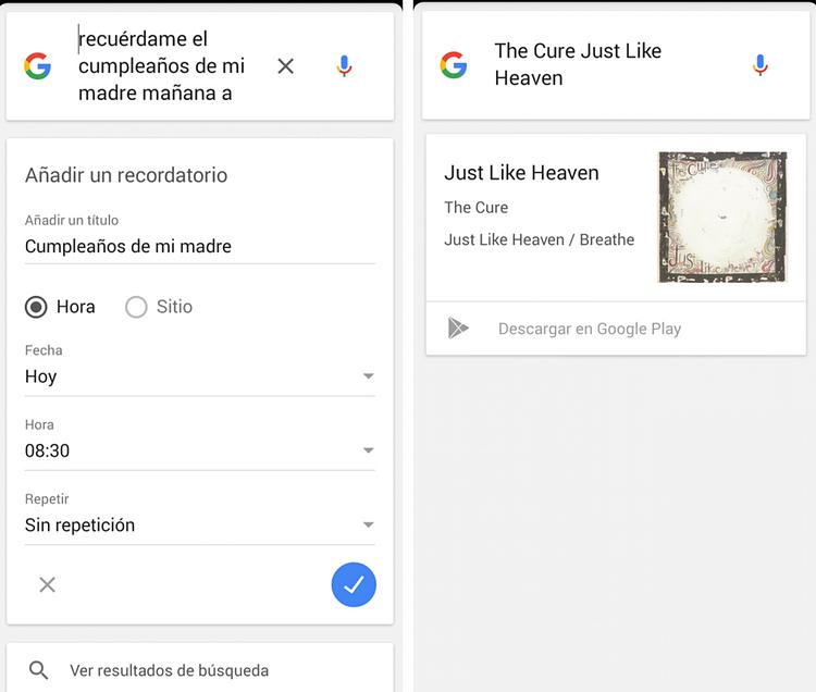 comandos de sistema ok google