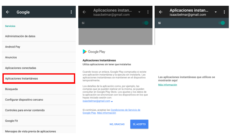 activar google apps