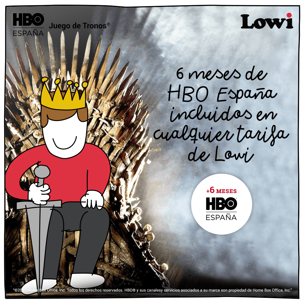 Se acerca el invierno a Lowi…y os traemos ¡6 meses de HBO España incluidos para todos!