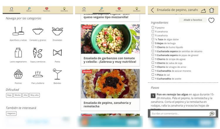 recetas vegetarianas app