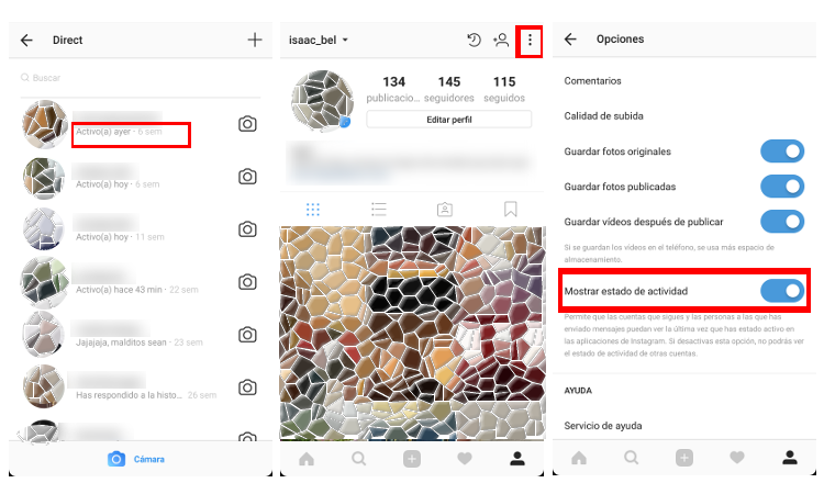 hora de conexión en instagram