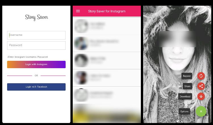 app guardar stories