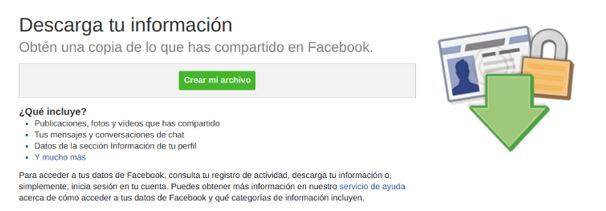 información privada de facebook