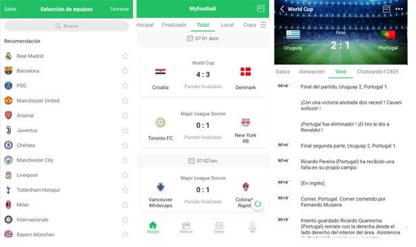 aplicaciones de futbol