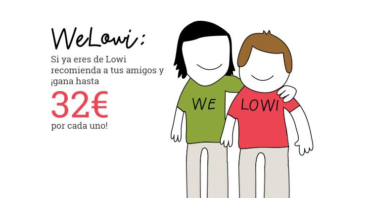 Llévate hasta 32€ con WeLowi por cada recomendación