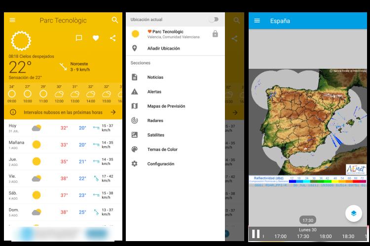 mejores aplicaciones de meteorología