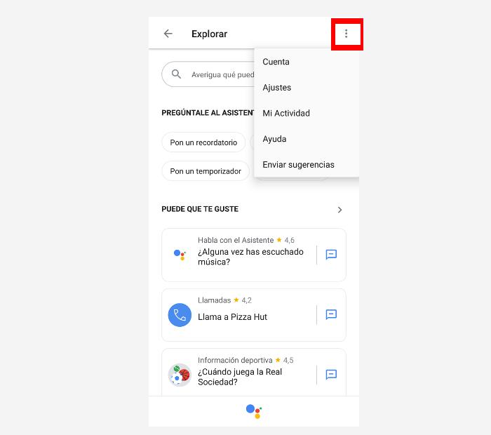 desactivar google assistant paso 2