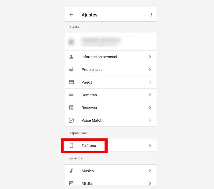 desactivar Google assitant paso 3