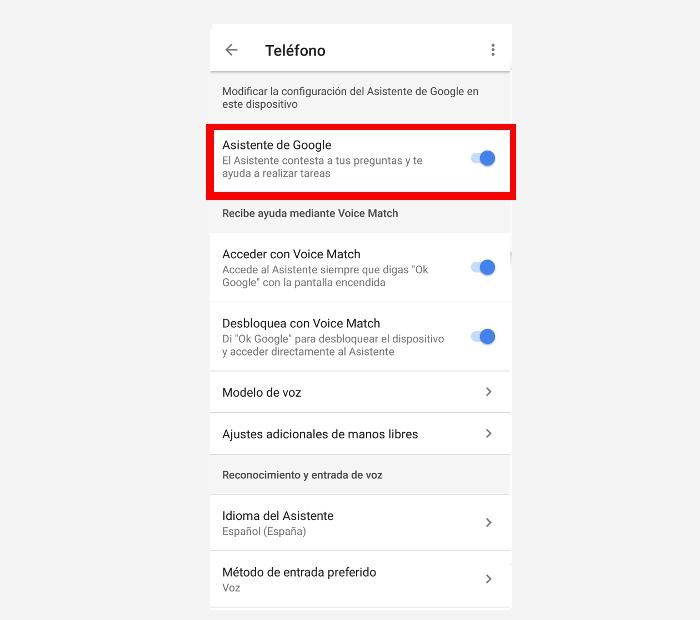 desactivar Google assitant paso 4