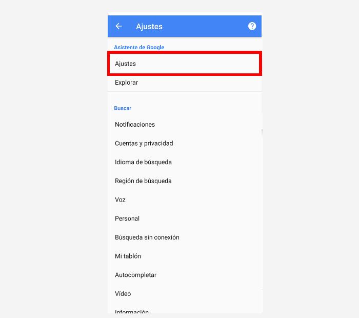 desactivar Google assistant paso 7