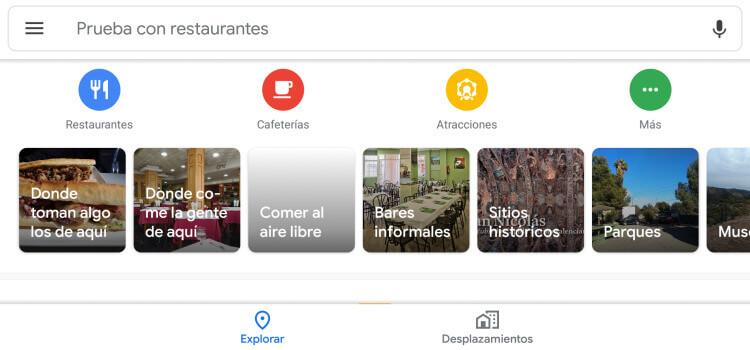 Restaurantes Google Maps