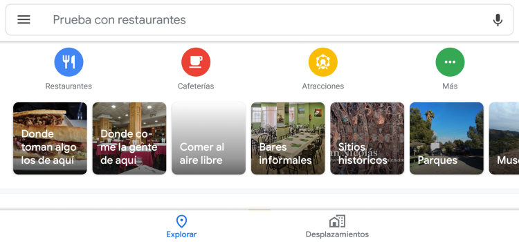 Restaurantes en Google Maps