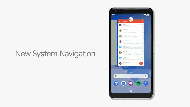 Nuevo sistema de navegación por gestos