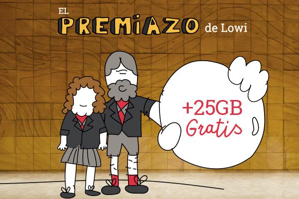 Esta Navidad en Lowi, ¡25GB GRATIS para todos!