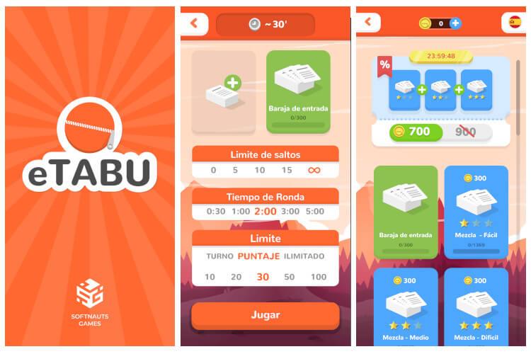 app tabú en el móvil