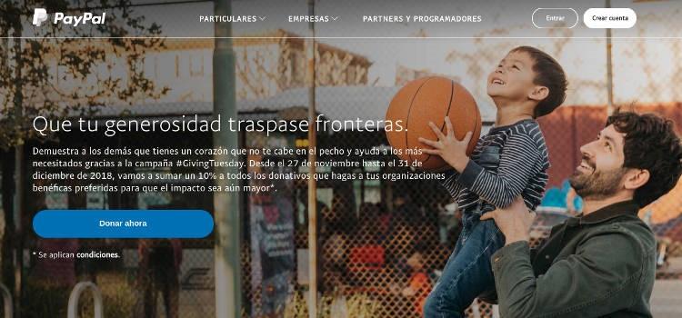 Web de Paypal