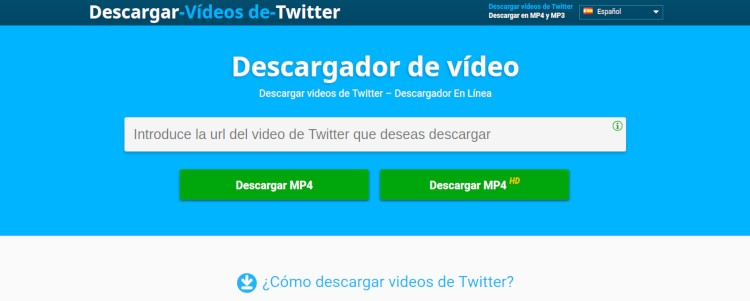 Descargando vídeos con Video Downloader para twitter