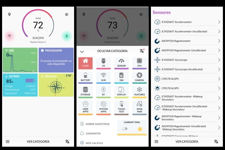 Captura de pantalla de Quixom Device Info