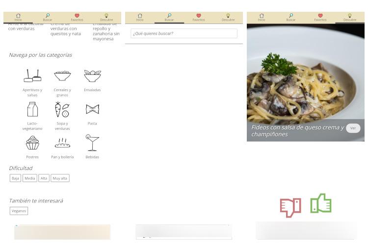 apps con recetas vegetarianas