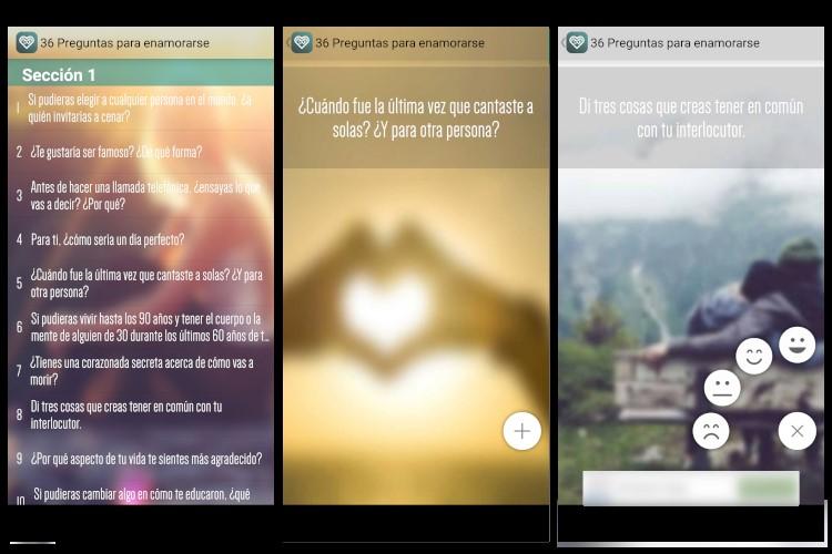 App 36 preguntas para enamorarse