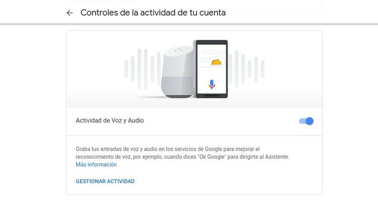 actividad en google