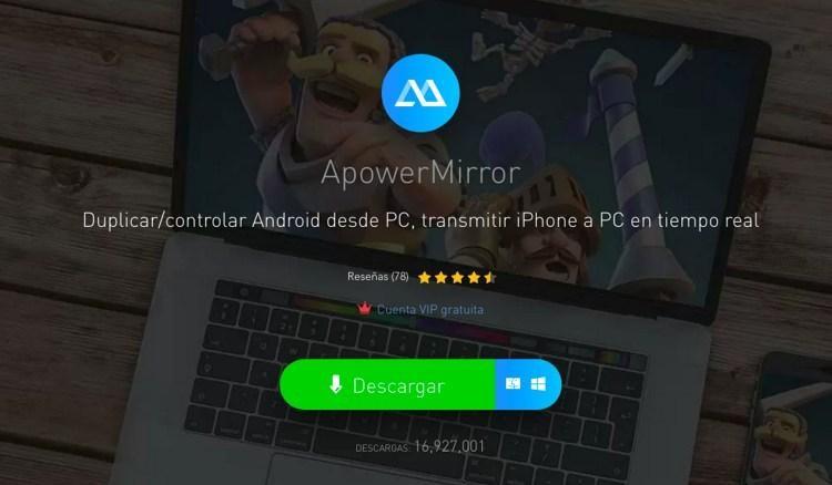 captura de ApowerMirror