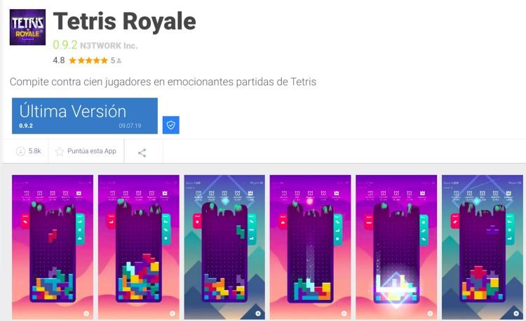 cómo descargar tetris royale
