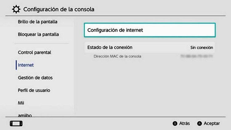 Tutorial conectar Nintendo Switch Lite a Internet