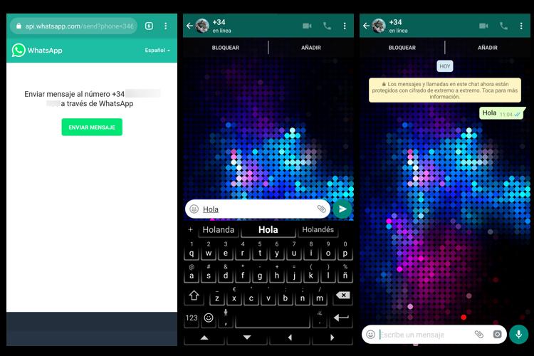 tutorial para enviar whatsapp a numeros que no están en la agenda