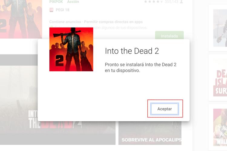 app descargada desde el ordenador