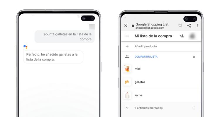 hacer compra google assistant